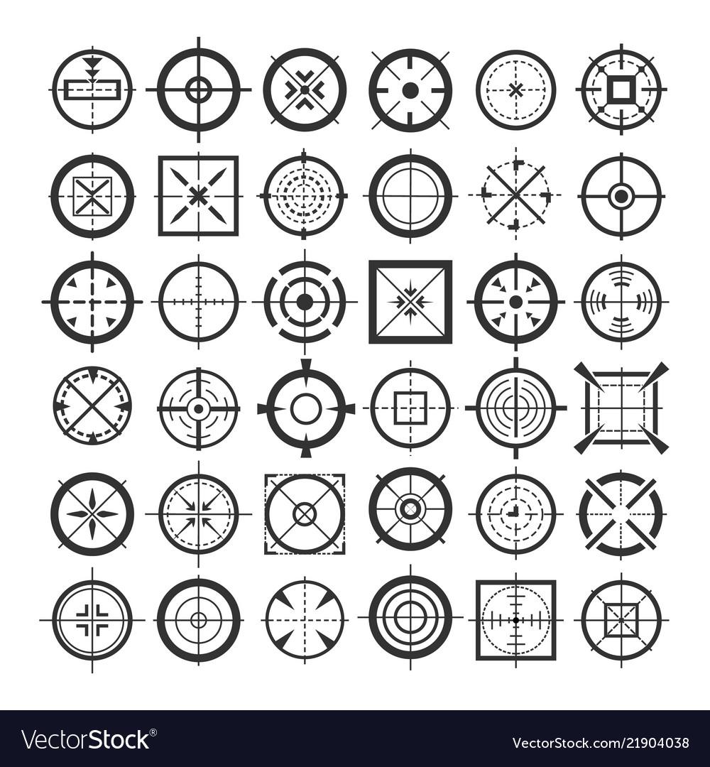 Target crosshair icons