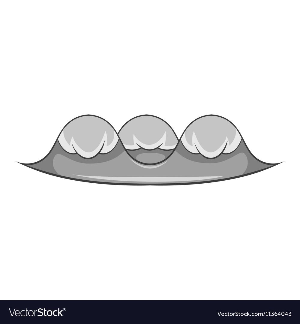 Foamy wave icon cartoon style