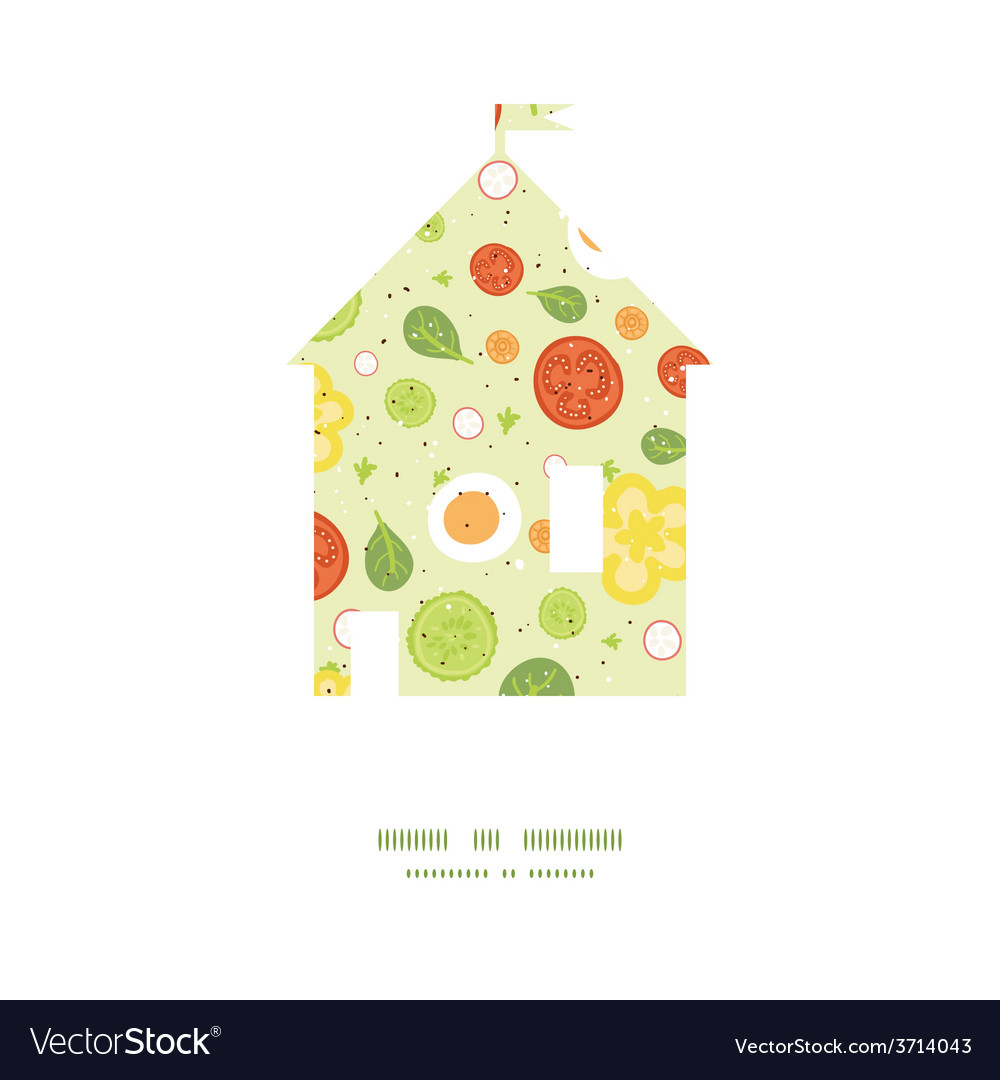 Fresh salad house silhouette pattern frame