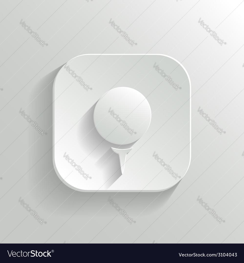 Golf icon - white app button
