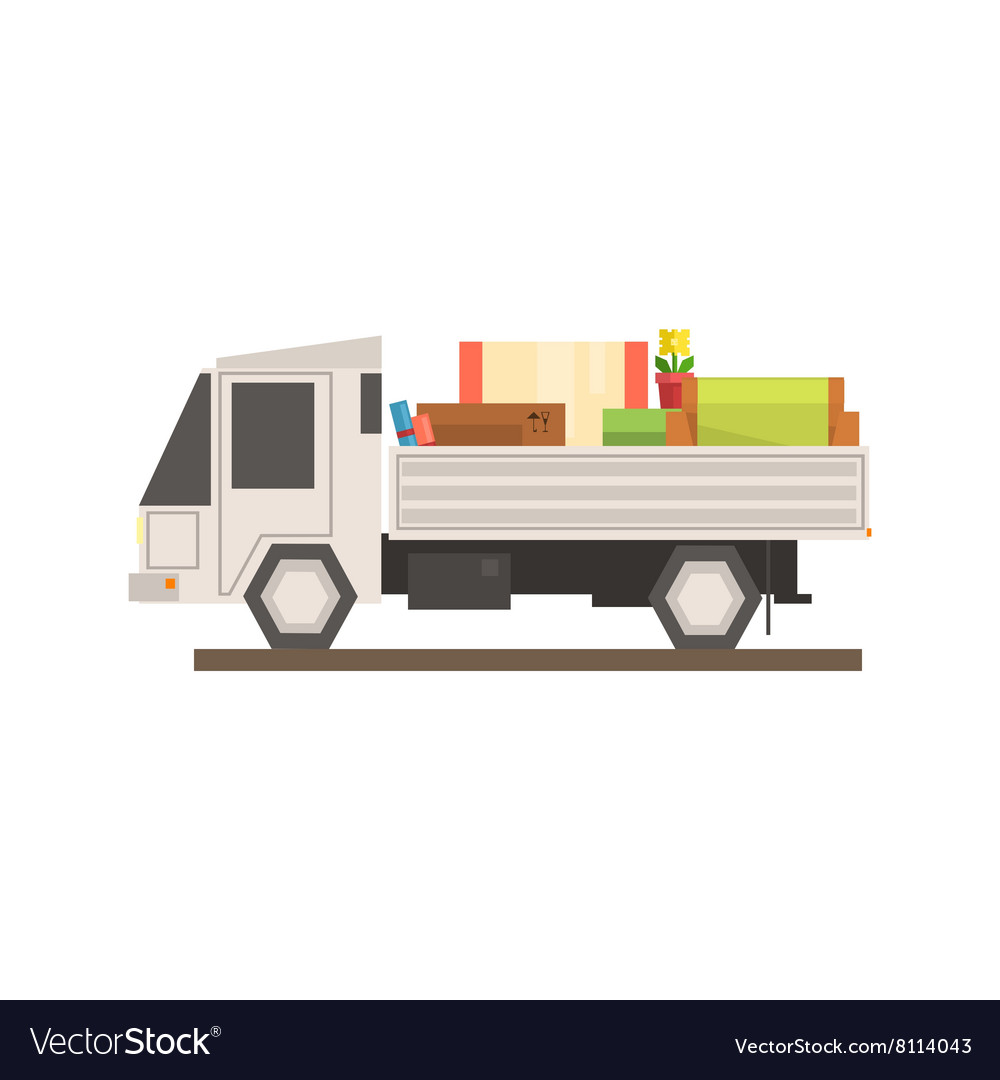 Loaded Moving Truck vector image