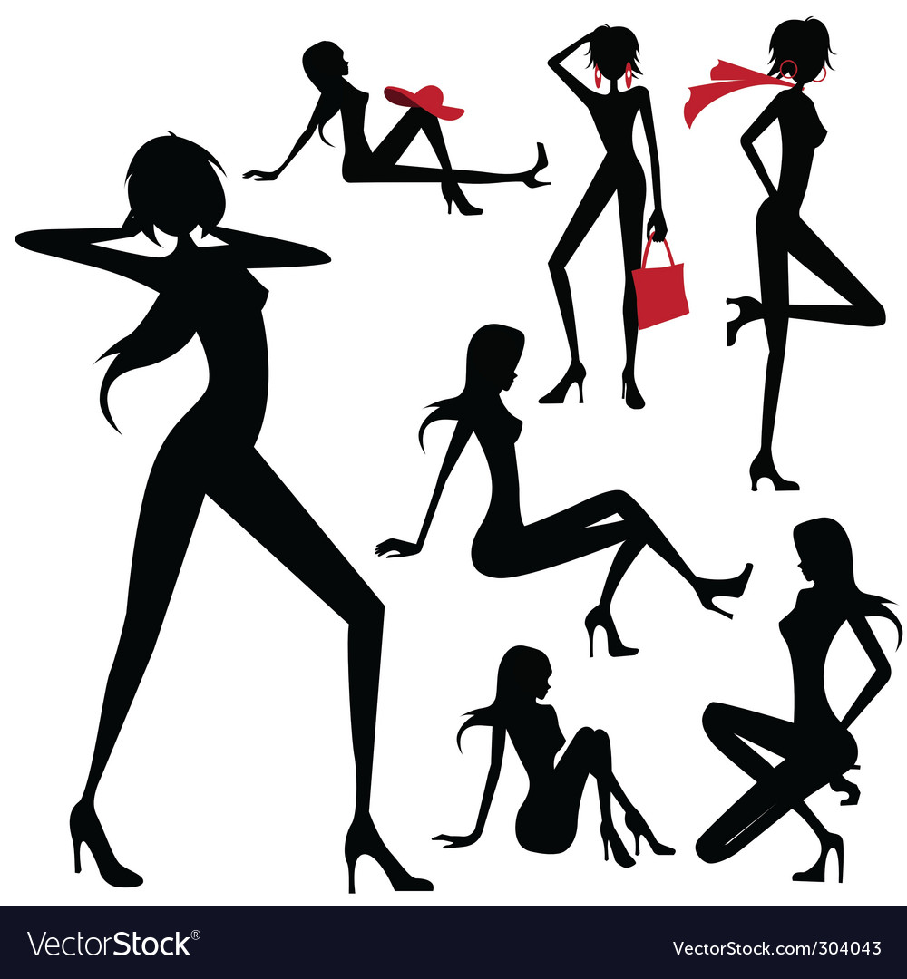 Model woman vector image
