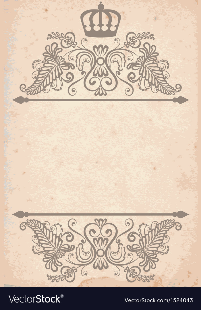 Old paper texture with royal pattern