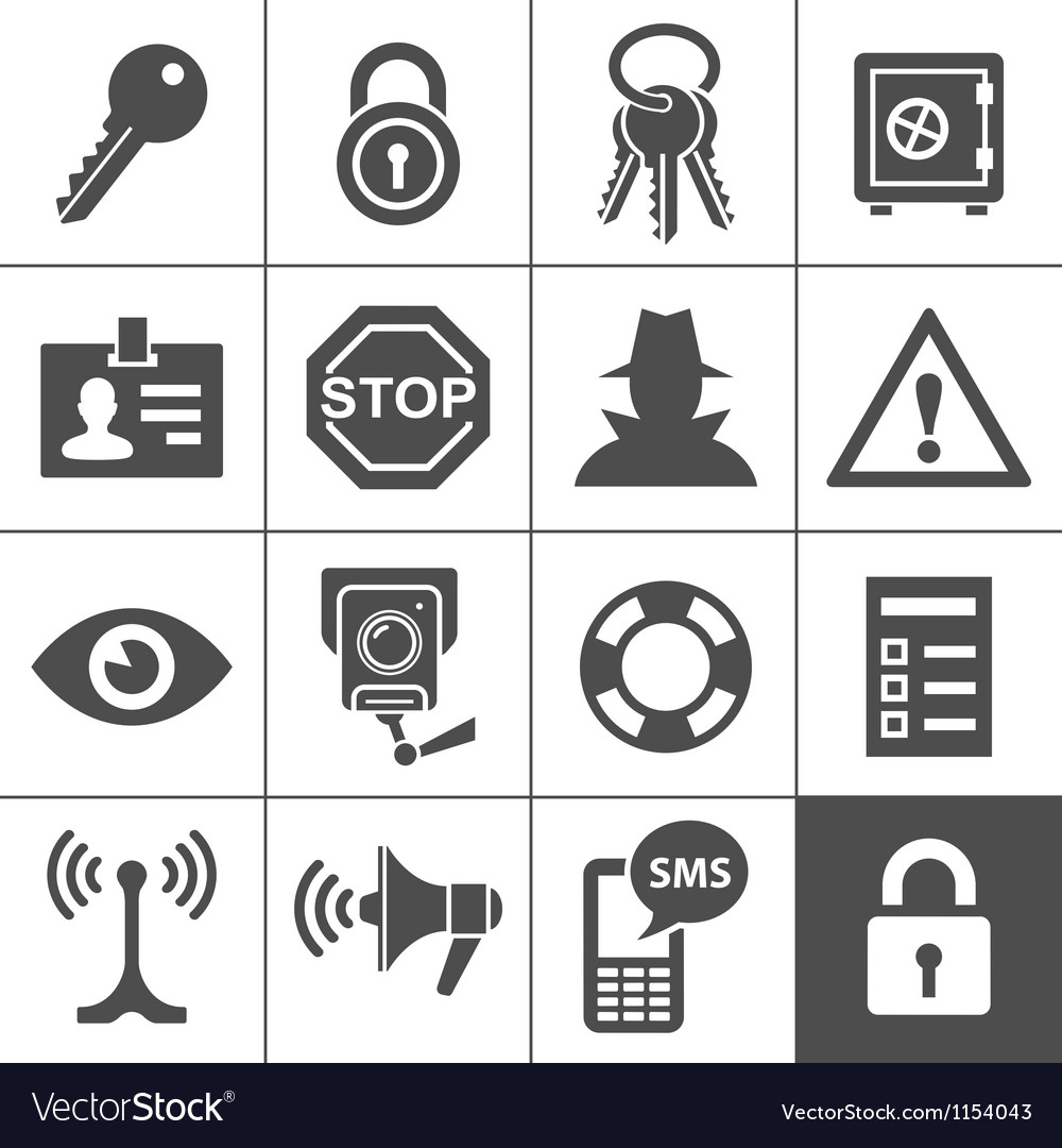 Security and warning icons Simplus series