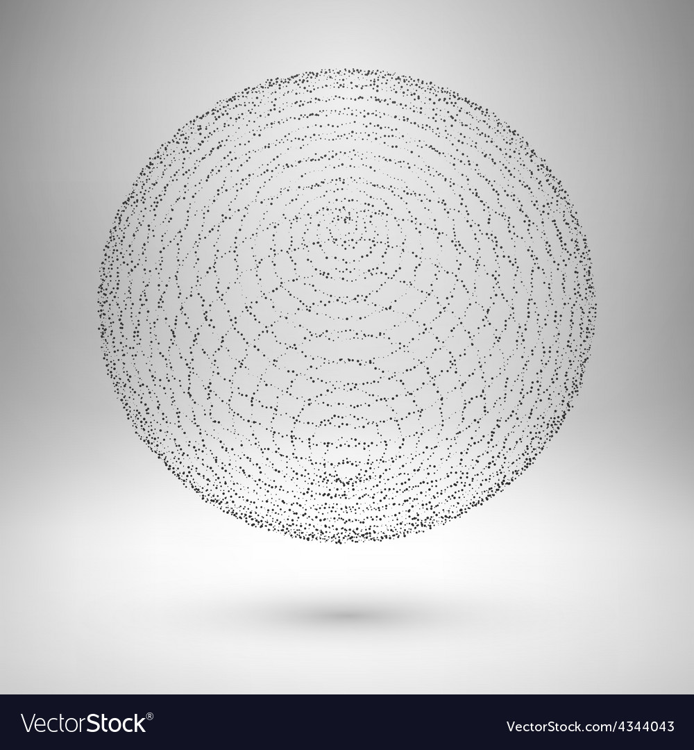 Wireframe mesh element The sphere consisting of