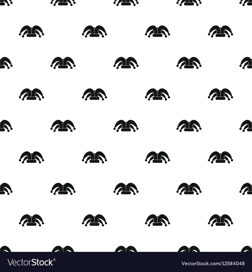 404c32dde66 Jester hat pattern simple style Royalty Free Vector Image