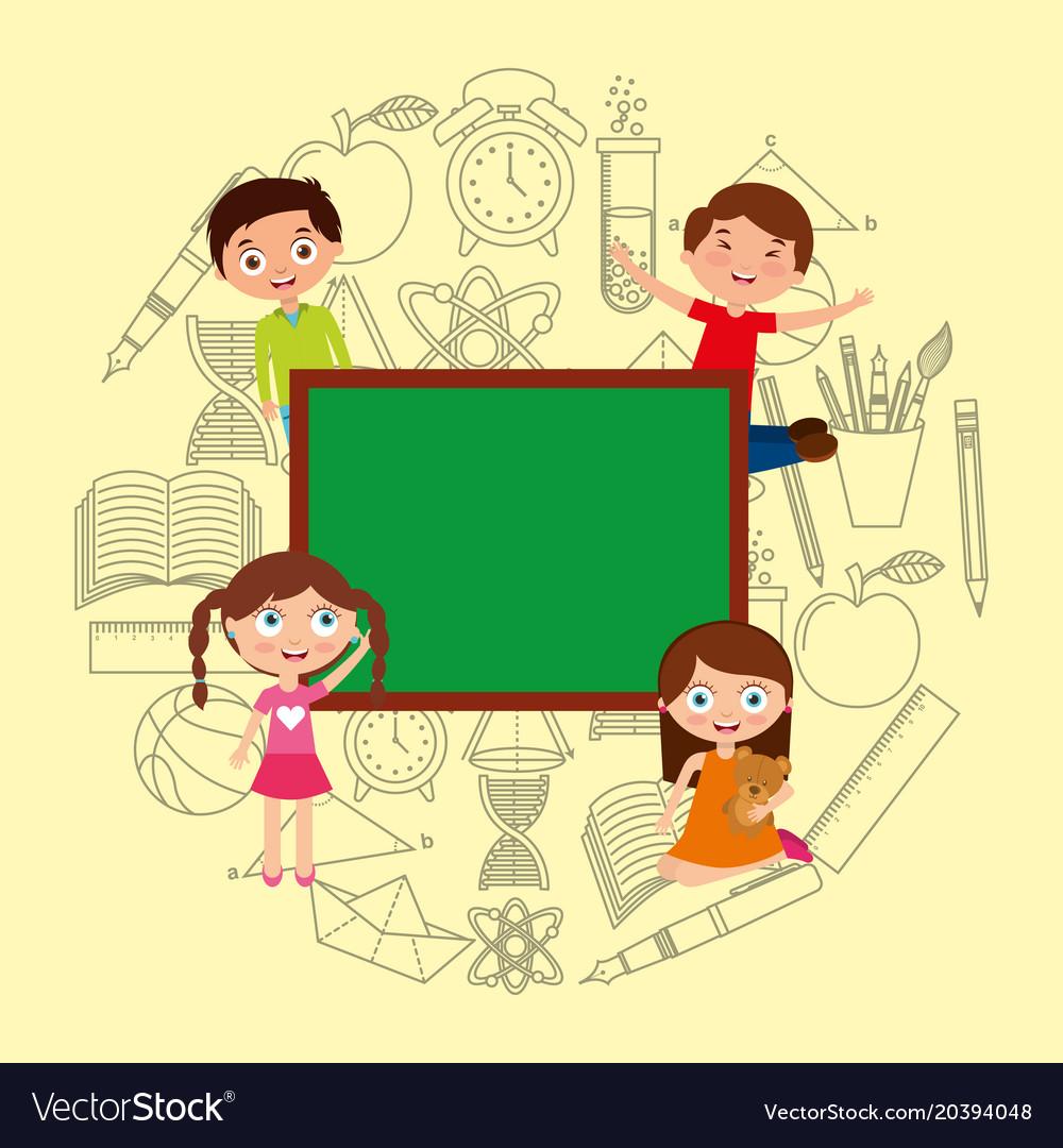 Kids playing cartoon