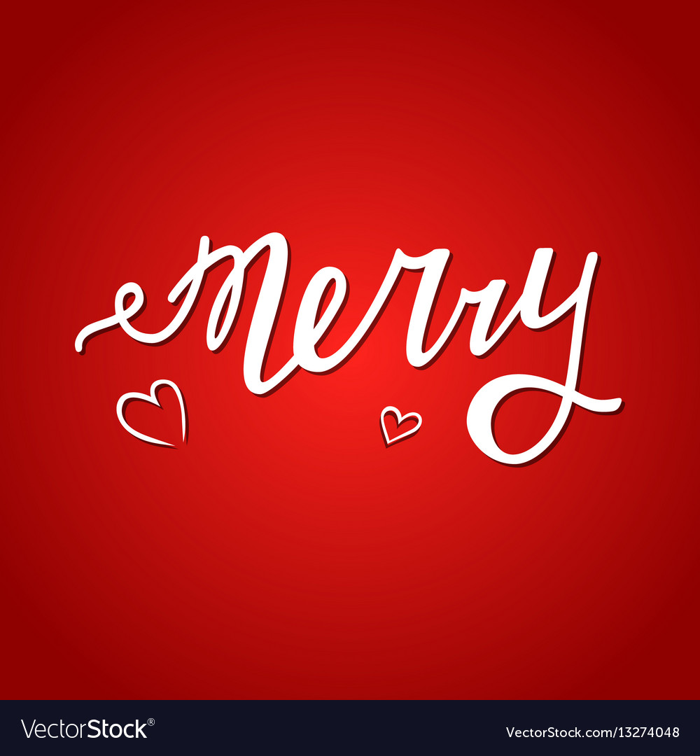 Merry me red vector image