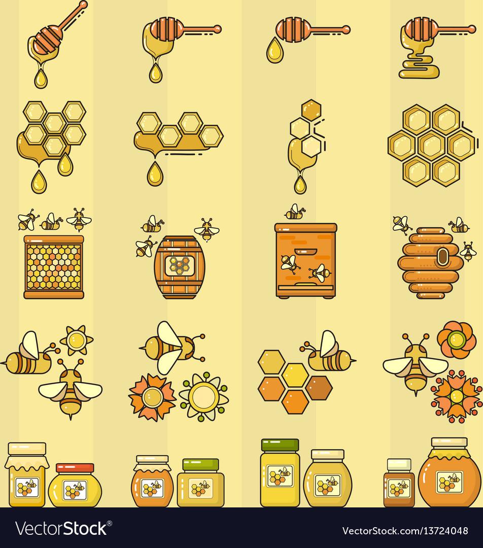 Outline style beekeeping