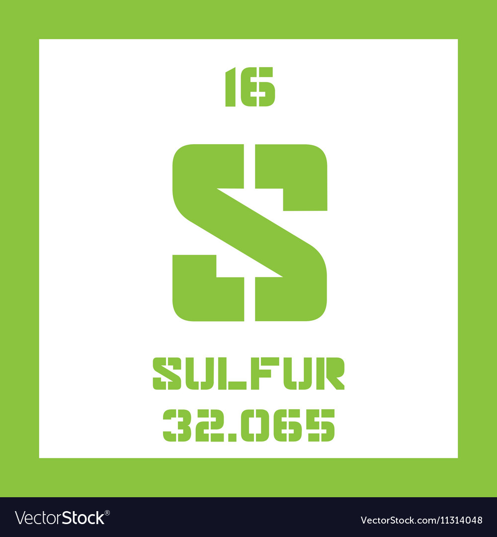 Sulfur Chemical Symbol Vector Images 44