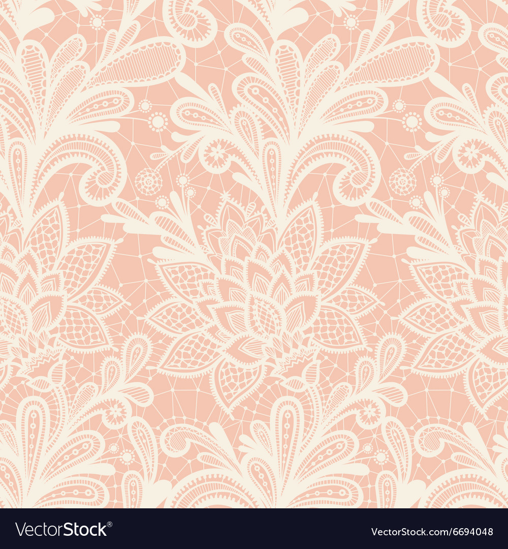 With vintage lace vector image