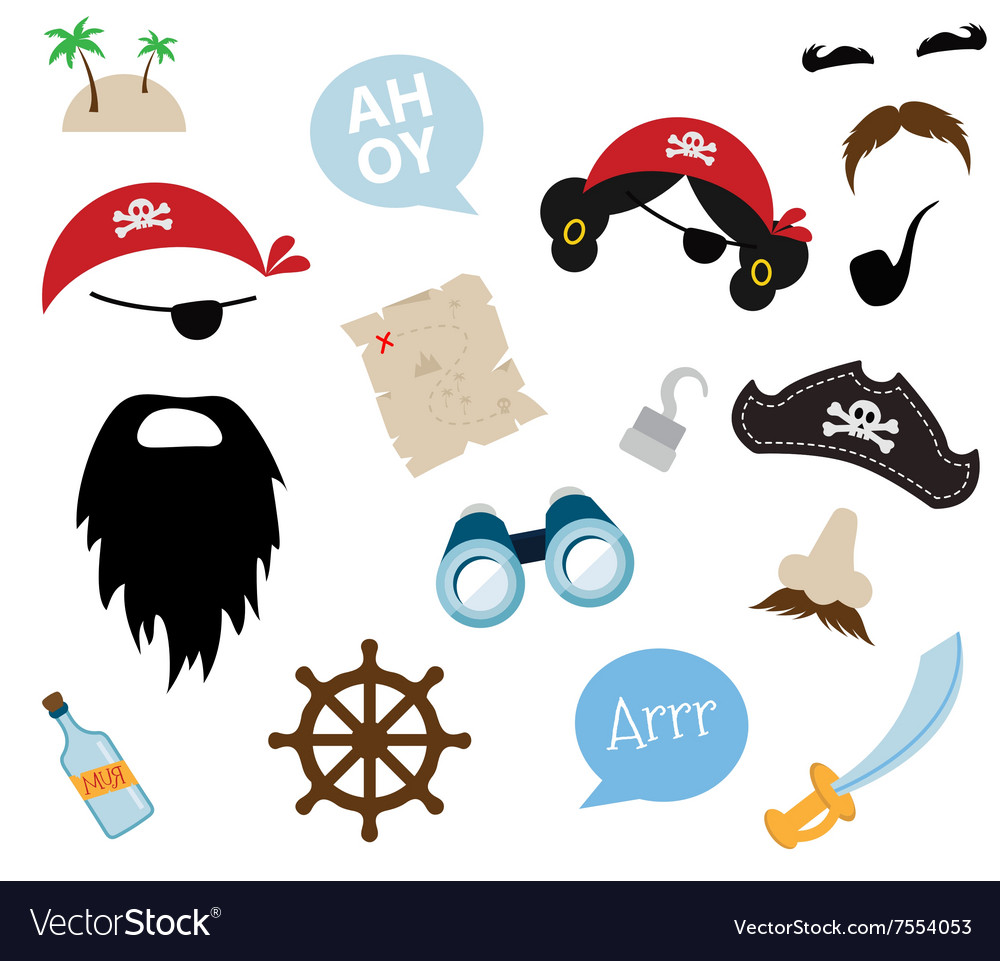 A colorful Theme of Pirate equipments