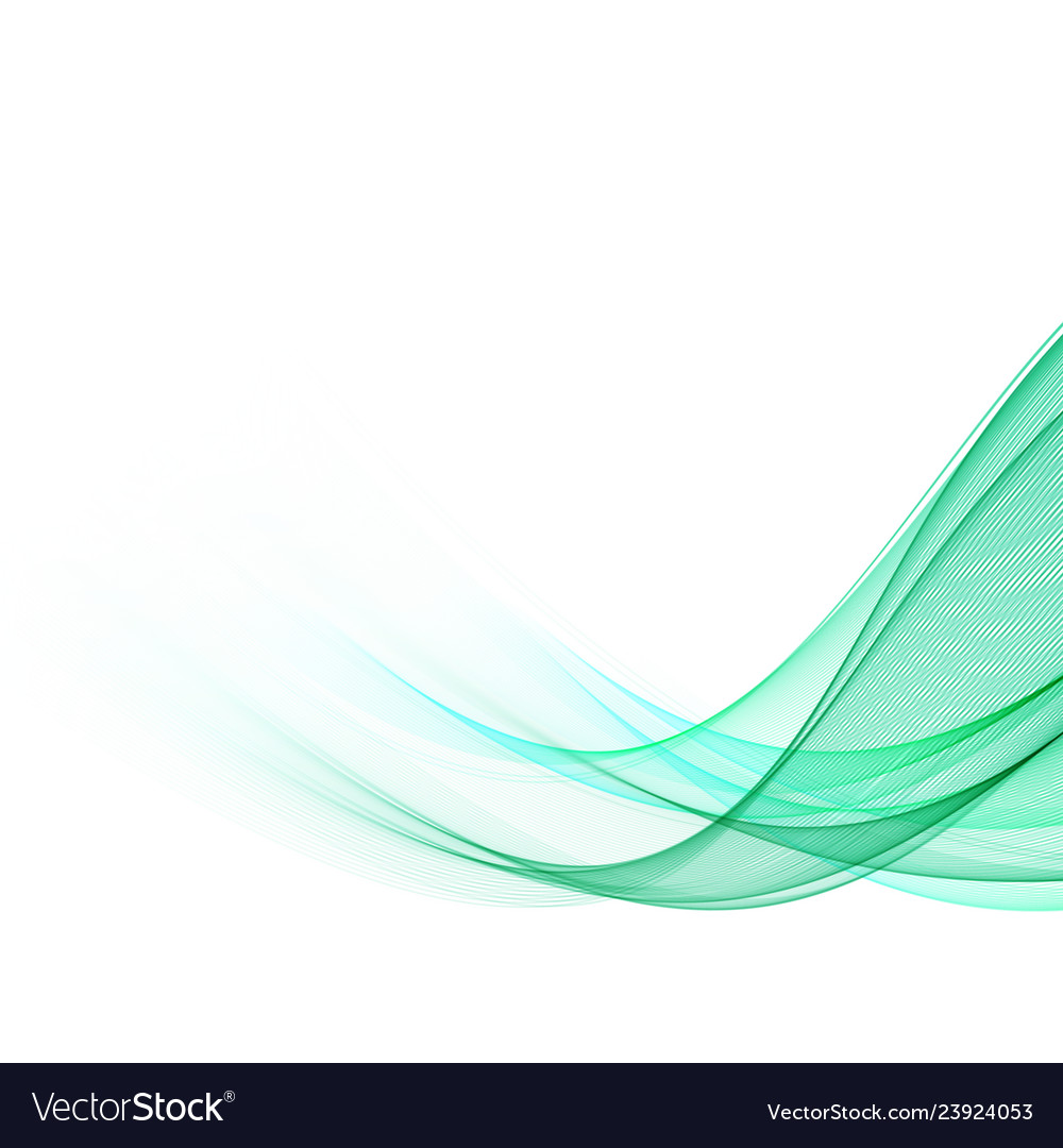 Abstract green wavy lines colorful