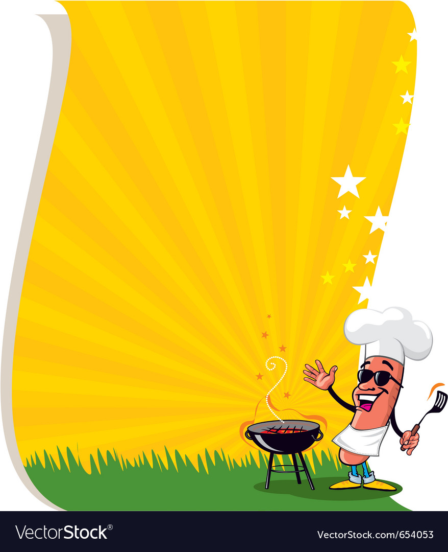 bbq poster template royalty free vector image vectorstock