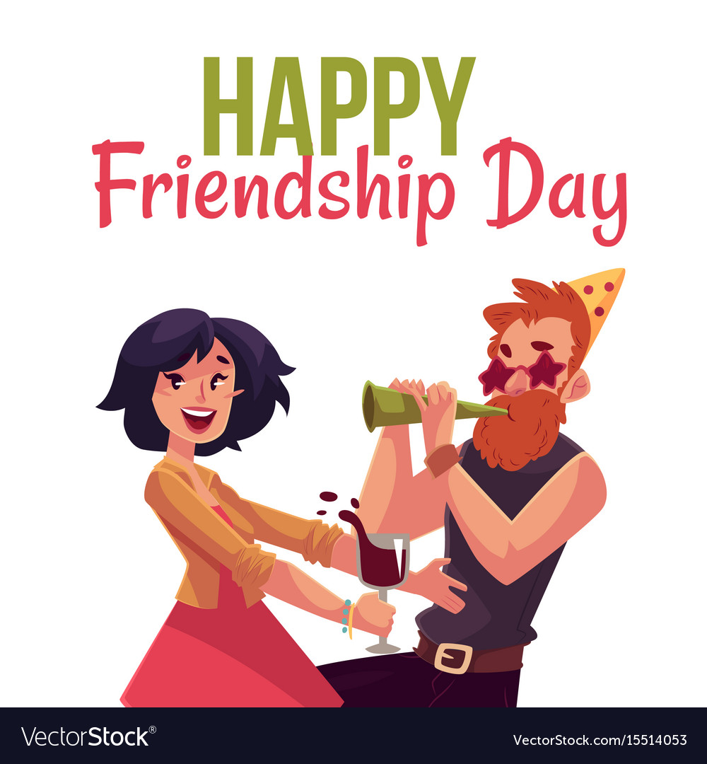 Happy Friendship Day Greeting Card Royalty Free Vector Image