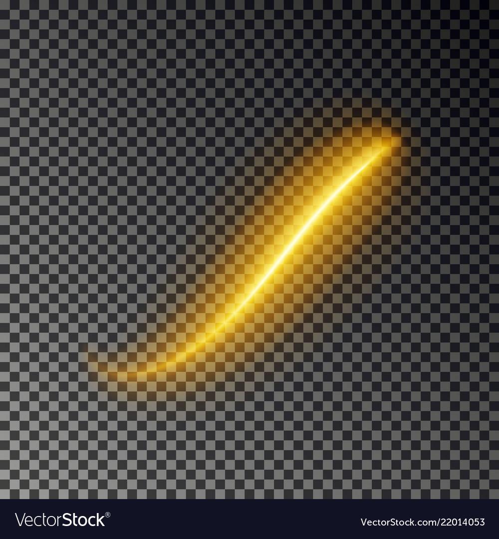 Light line effect gold glowing light fire
