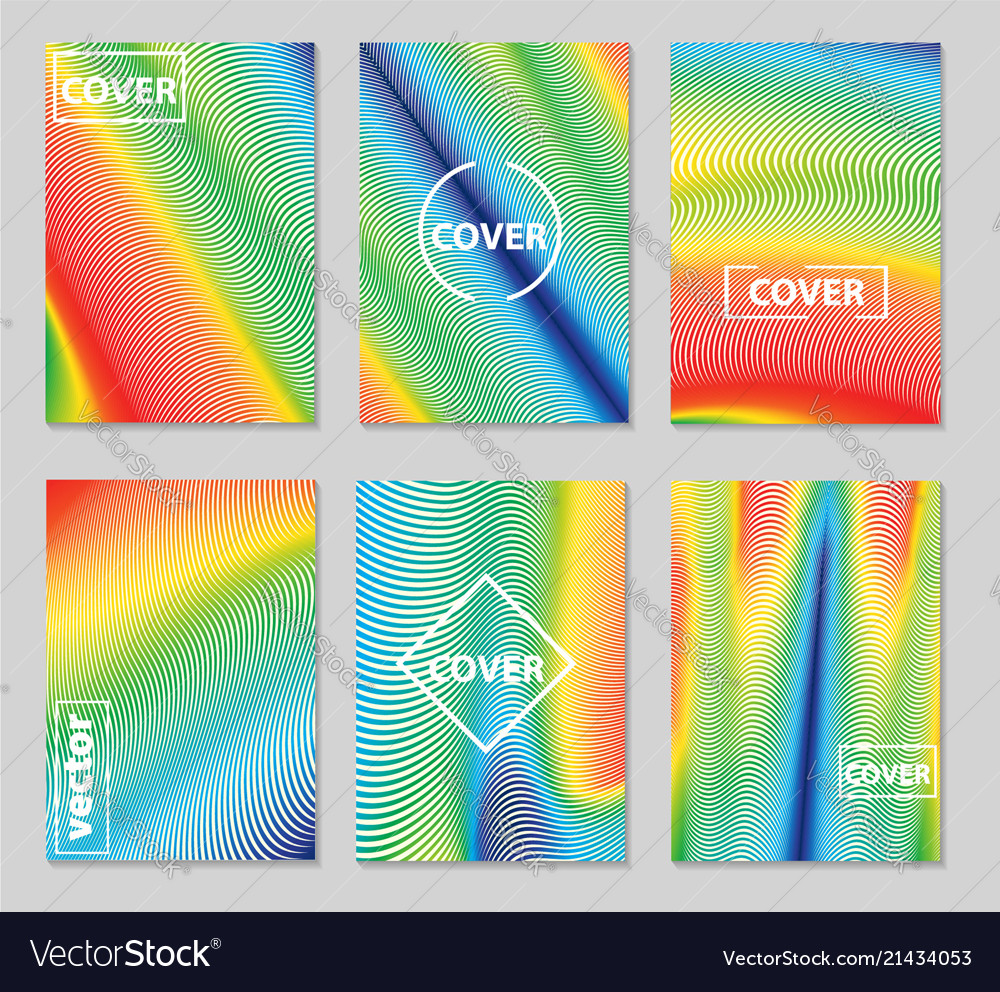 Minimal covers design geometric colorful halftone