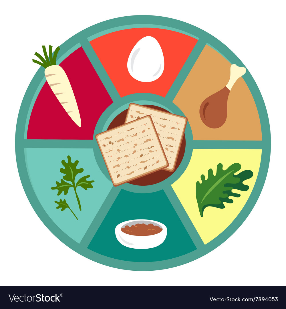 Passover Seder Flat Icons Royalty Free Vector Image
