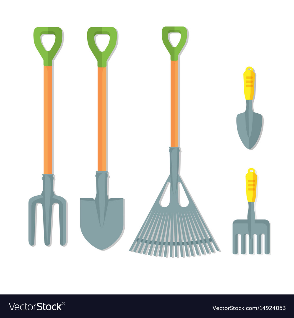Set of working tools for gardening