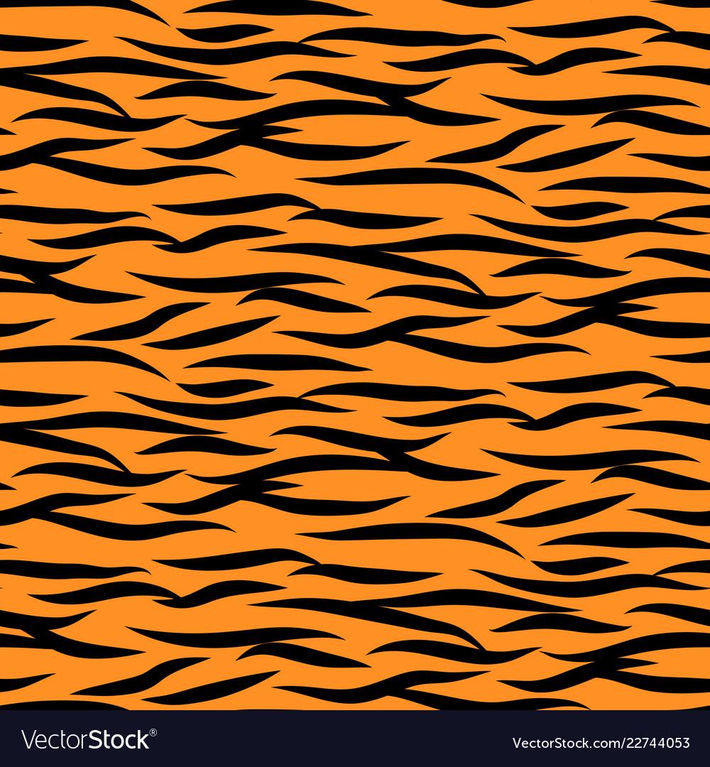 Tiger stripes seamless pattern black