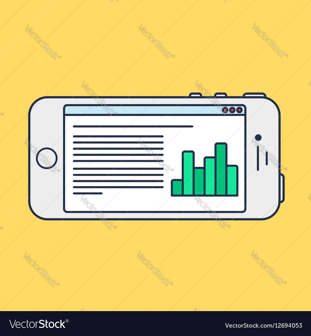 Web Template of Smartphone Site or Article Form