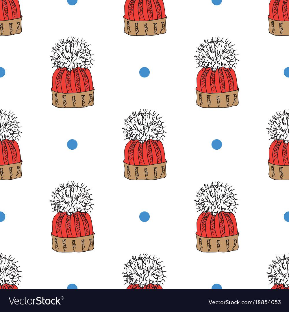 43c20931b30e Winter season doodle clothes seamless pattern Vector Image