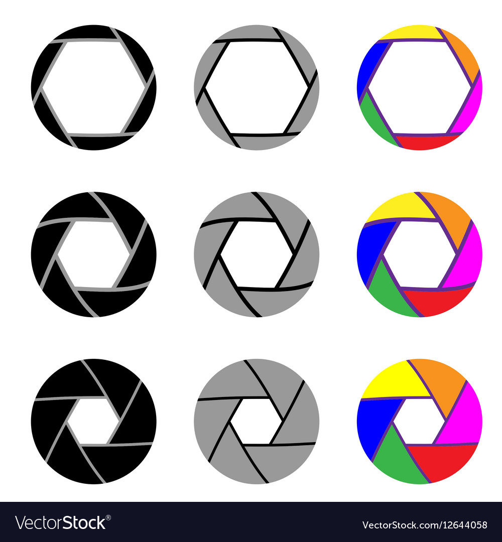 Aperture in nine different variants