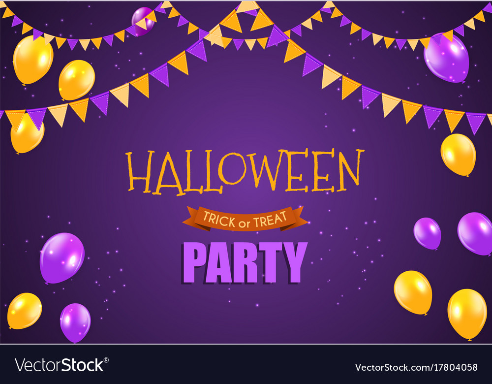 halloween party background template royalty free vector