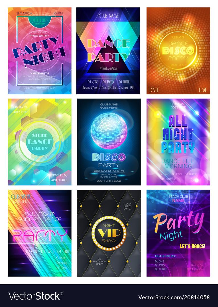 Party pattern disco club or nightclub