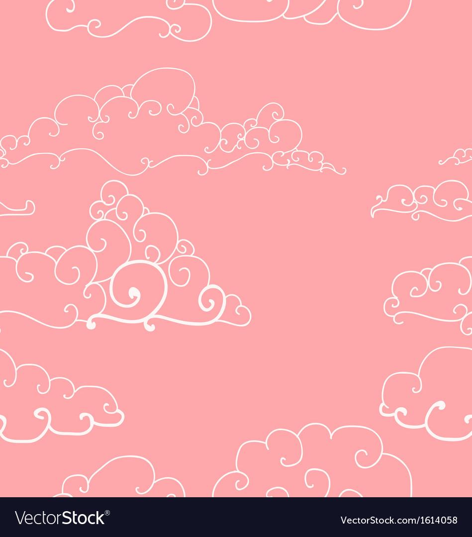 Seamless pattern of imaginative clouds