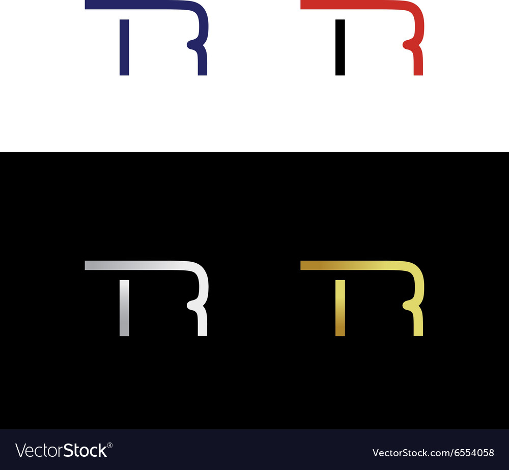 Simple Abstract Initials Wit Letter T And Letter R Vector Image