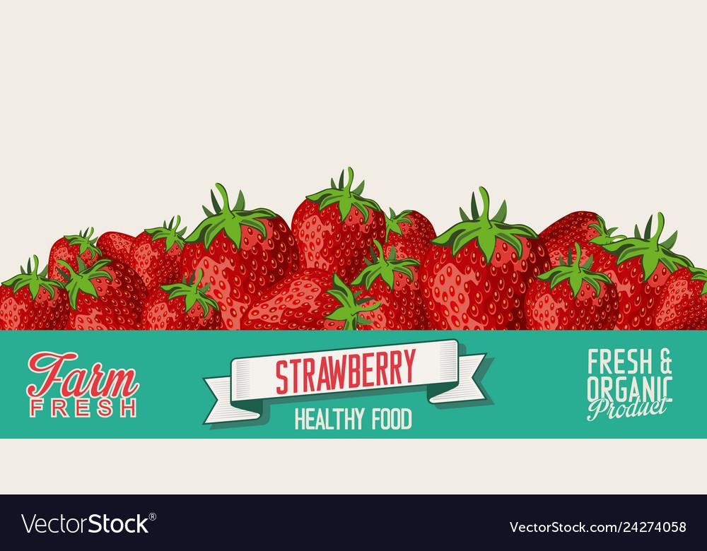 Strawberry retro vintage background