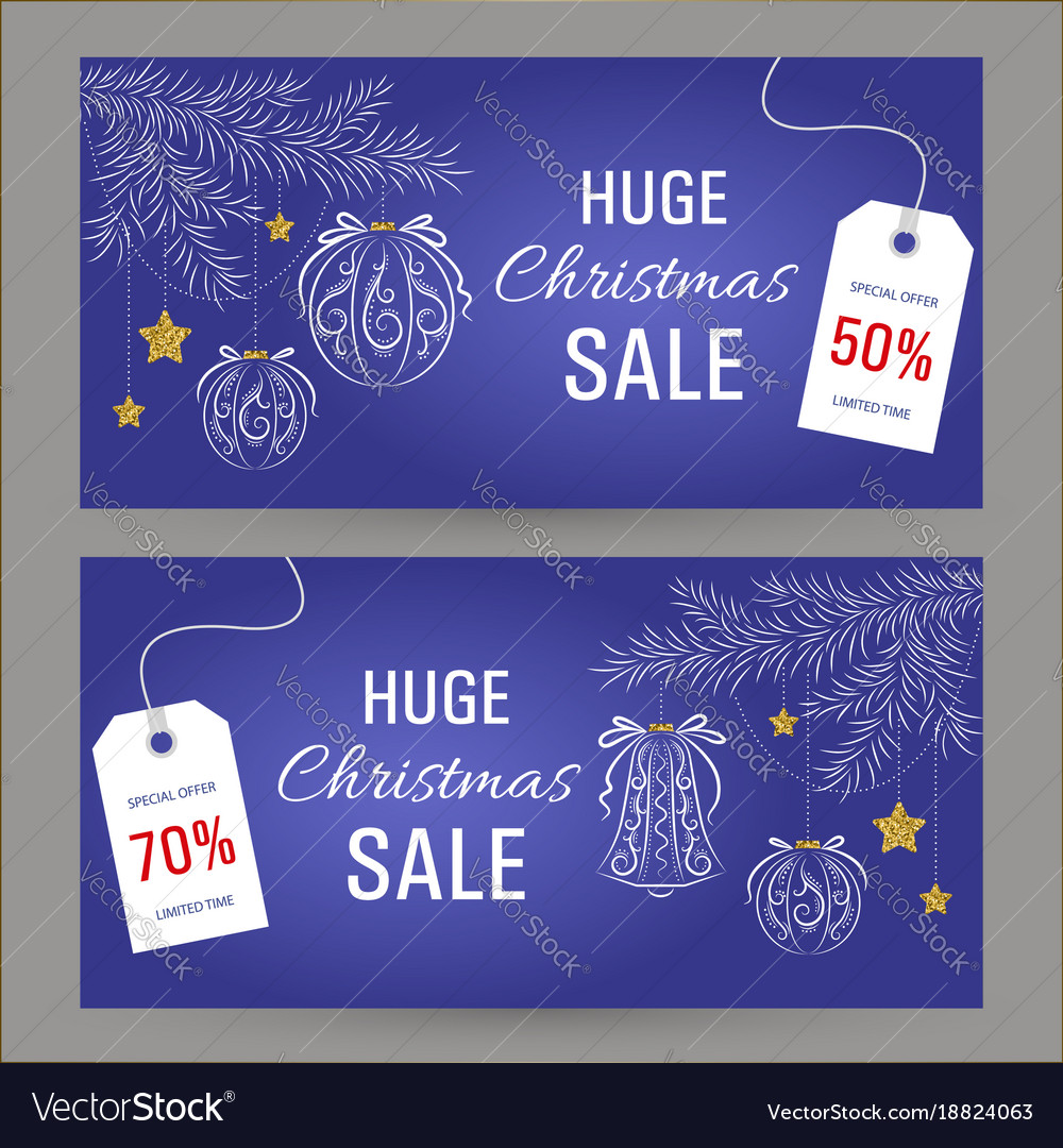 Abstract christmas sale banner