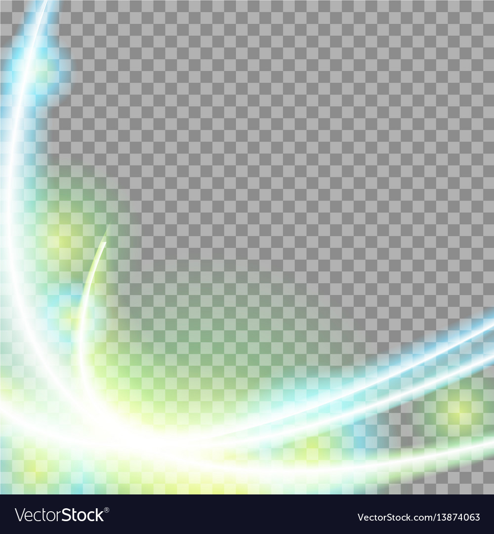 Abstract green blue transparent waves background