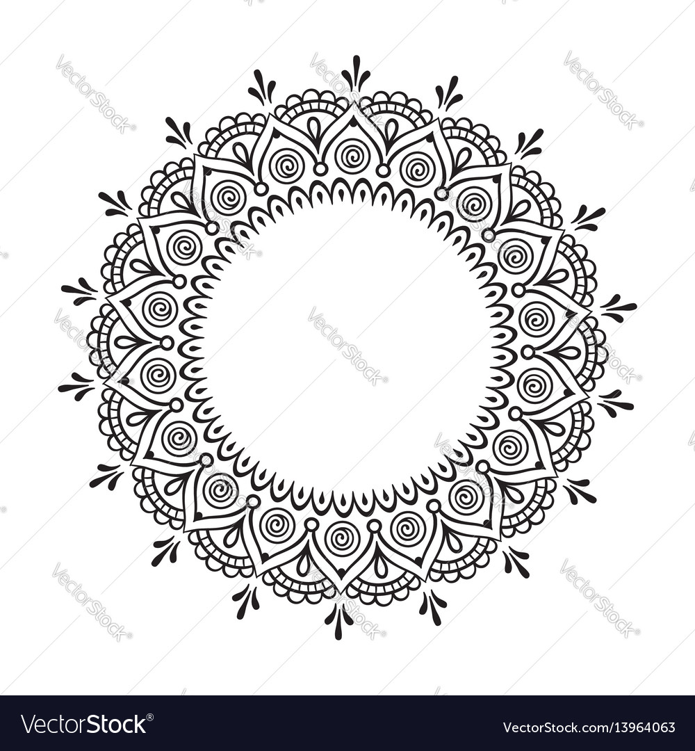 Decorative indian round lace ornate mandala