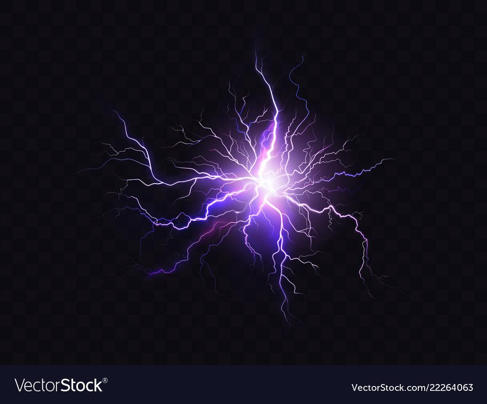 Shining purple lighting electrical