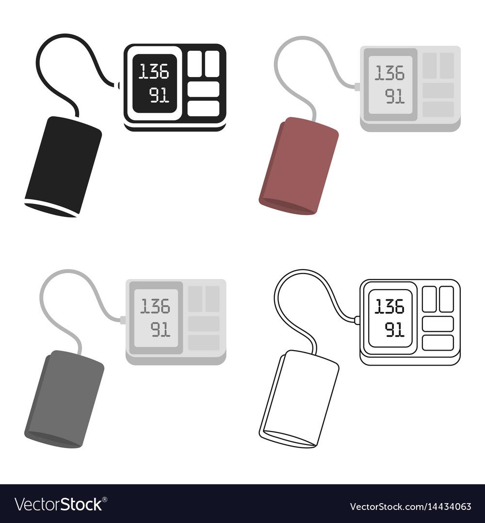 Tonometer icon cartoon single medicine icon from vector image