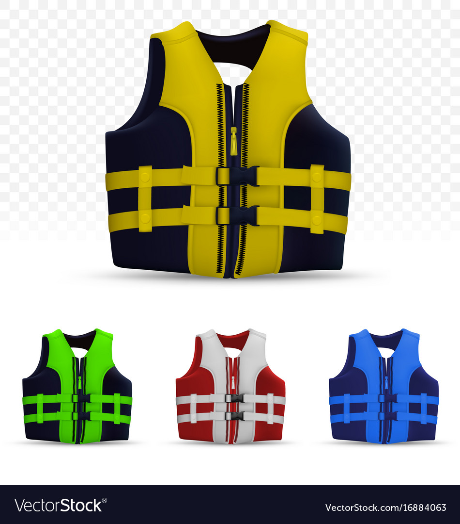 Unisex life vest isolated on transparent