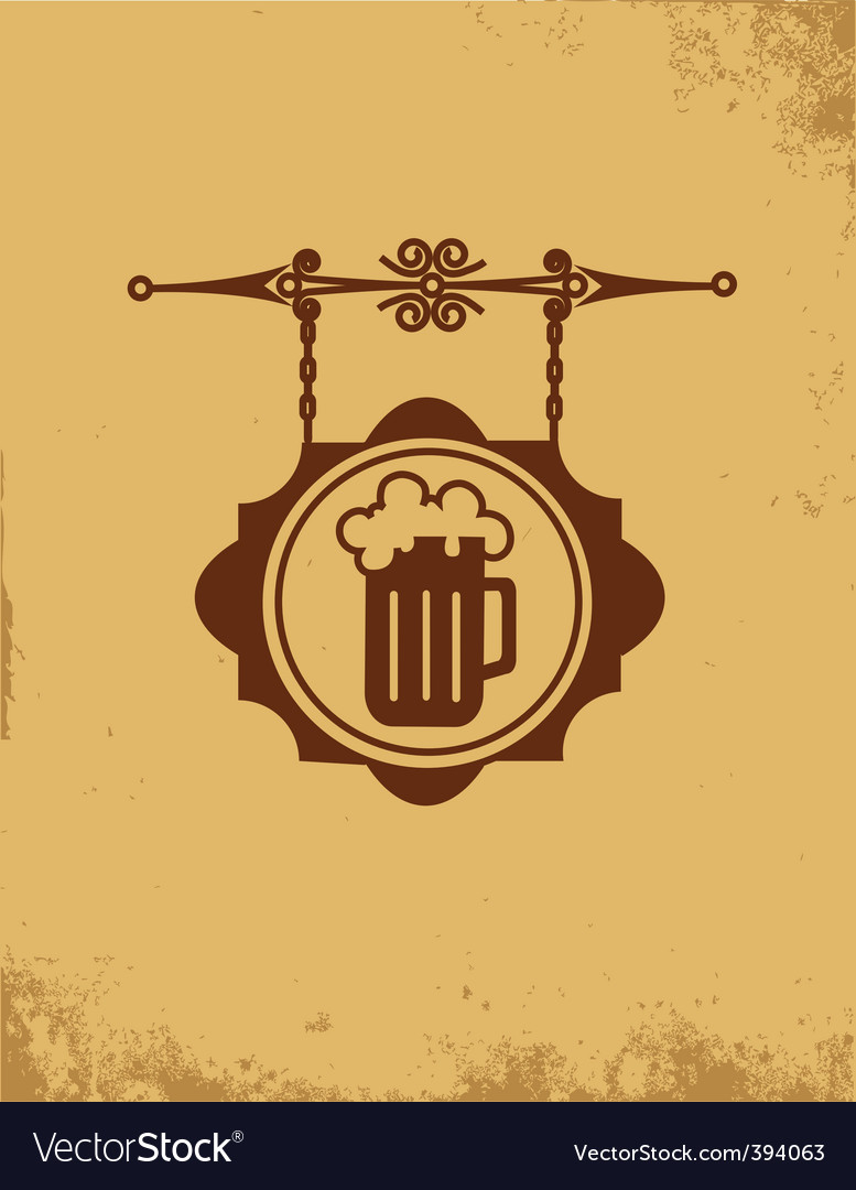 Vintage bar sign post vector image