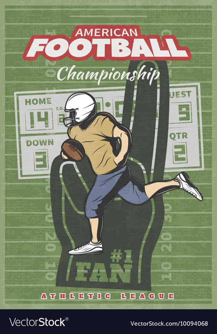 American Football Championship Poster