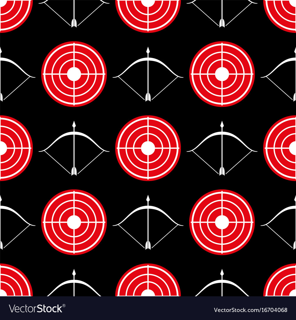 Archery seamless pattern - seamless texture red