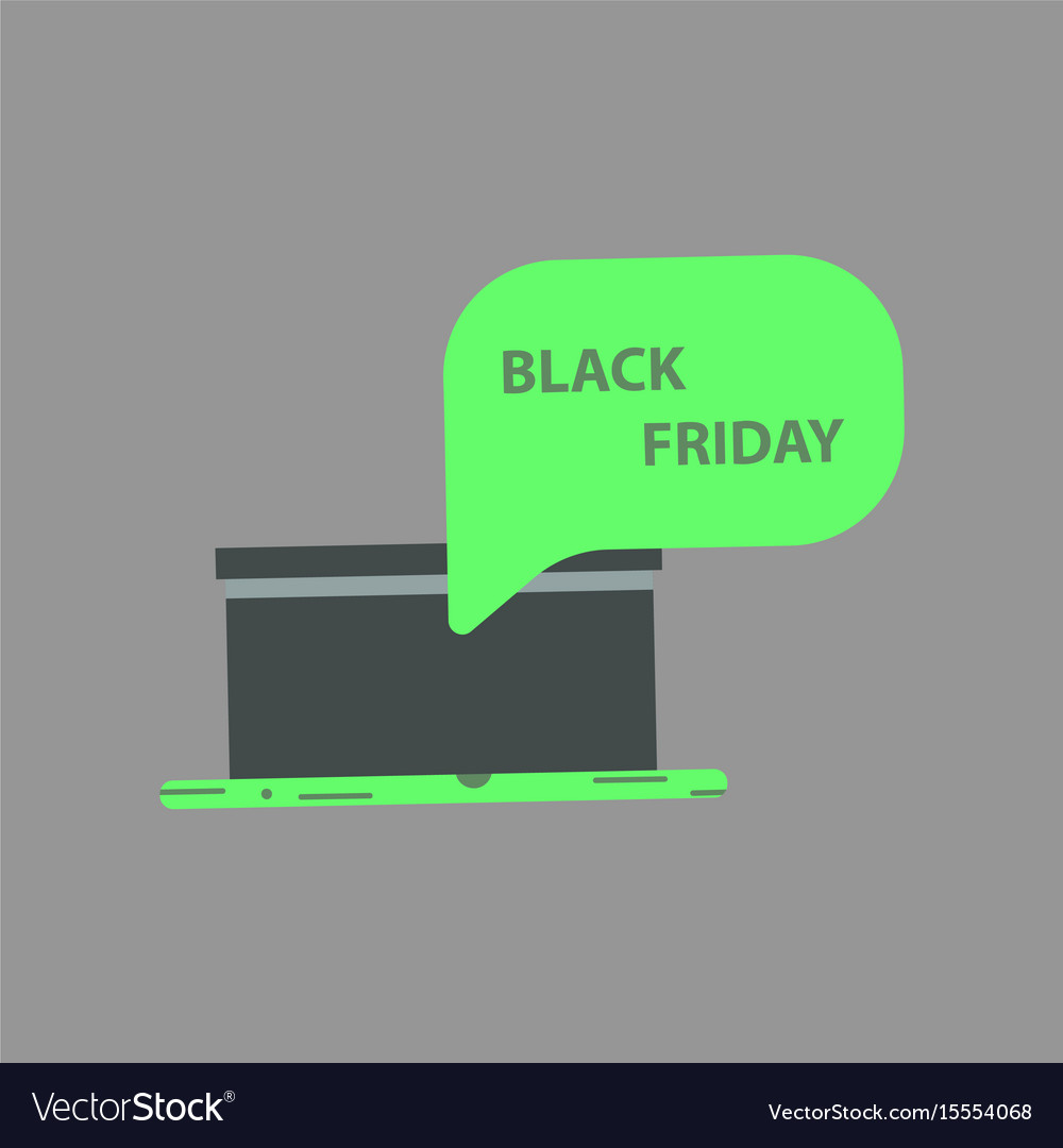 Flat icon of gift box black friday surprise