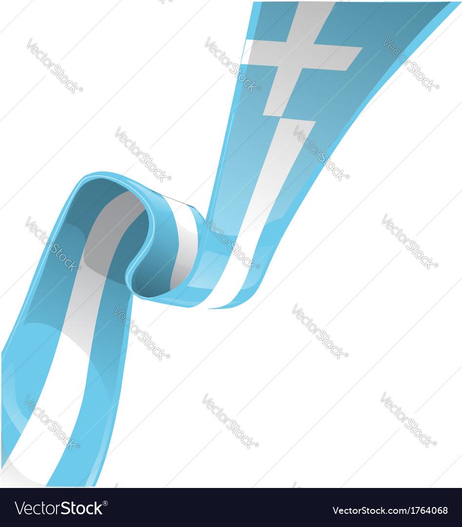 Greek RIBBON FLAG vector image