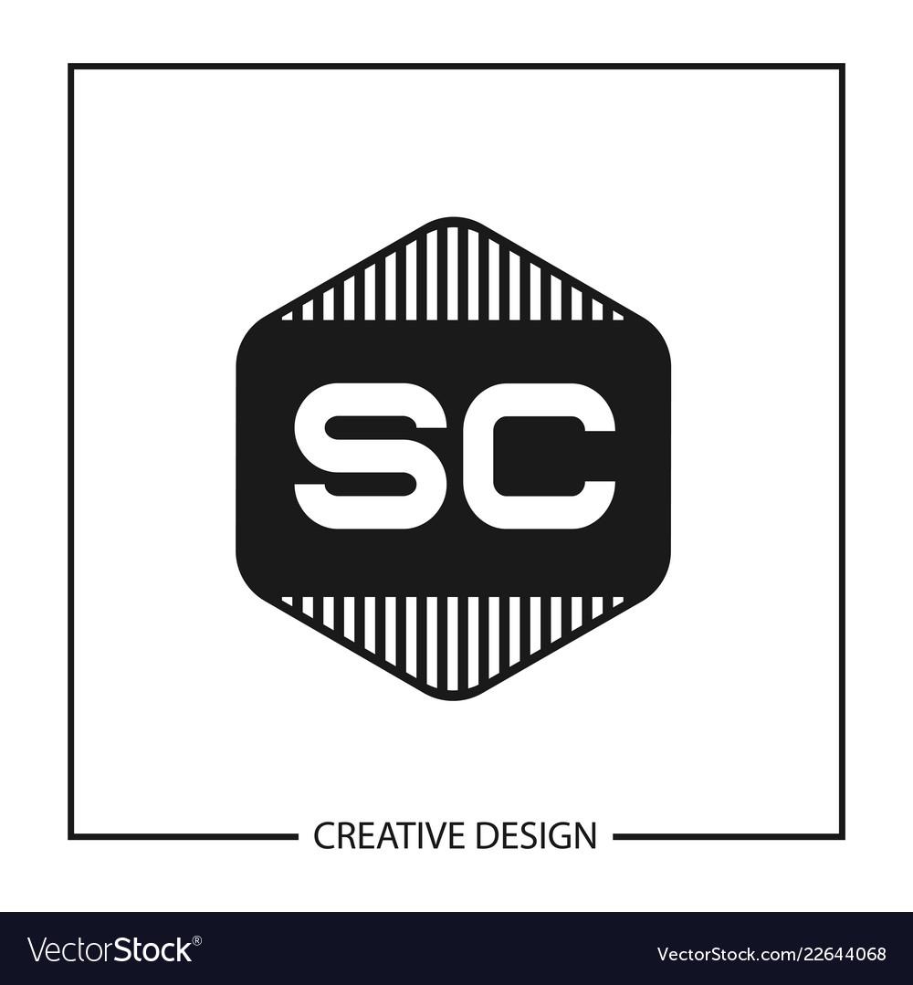 Initial Letter Sc Logo Template Design