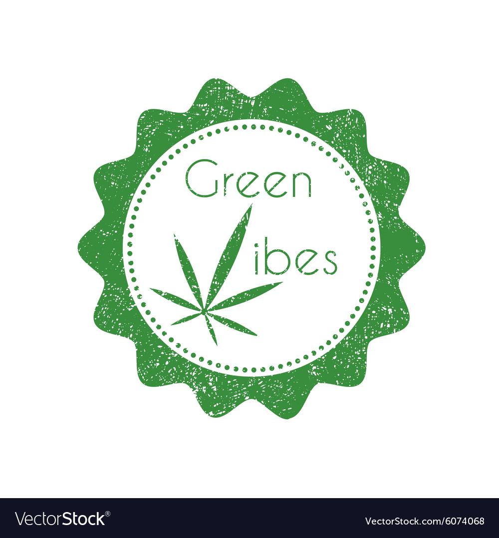 Marijuana badge vector image