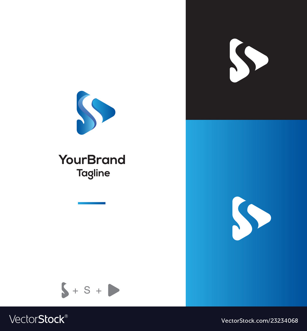 Penguin with play logo template