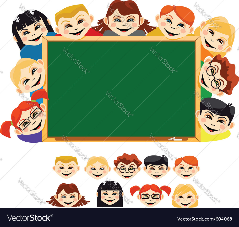 Smiling children vector image
