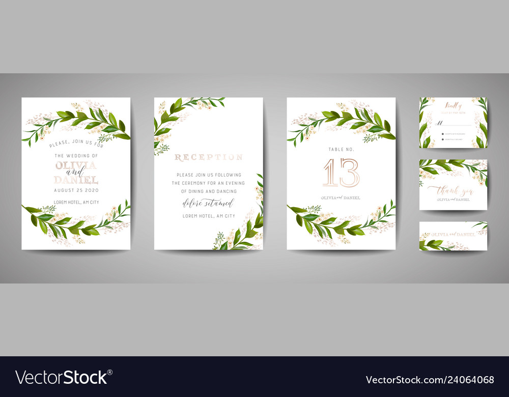 Wedding save the date invitation floral cards