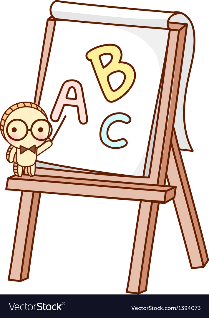 An easel stand on vector image