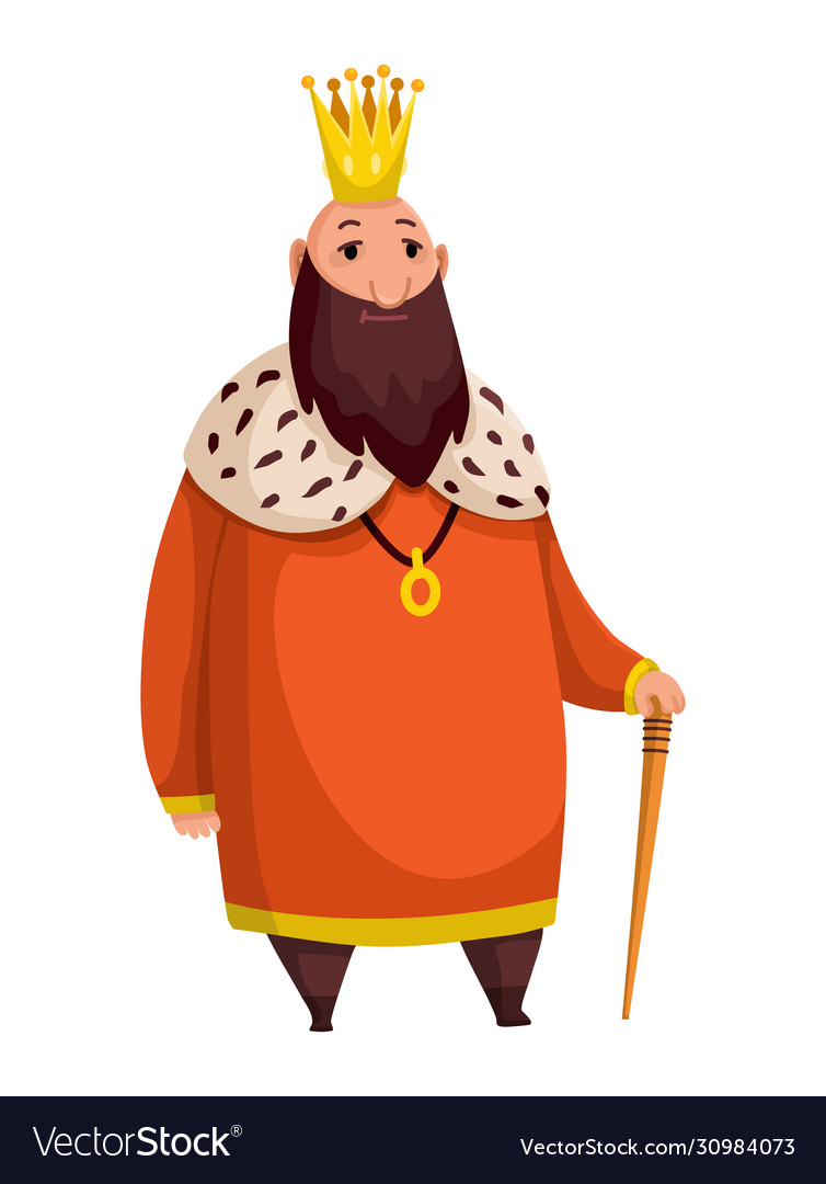 Cartoon King Wearing Crown And Mantle Fat King Vector Image 442x470 cartoon royal crown stock photos and images. vectorstock